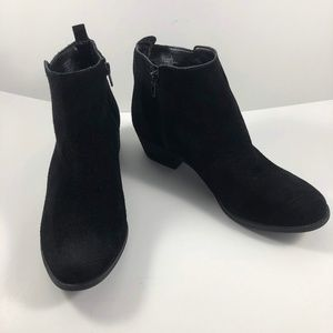 Vince Camuto Booties Leather Sz 7.5M Black Heel